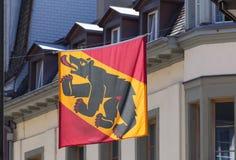 Drapeau du canton de Berne Photos libres de droits