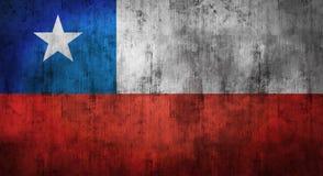 Drapeau du Chili chiffonné par grunge rendu 3d Image libre de droits
