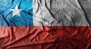 Drapeau du Chili chiffonné par grunge rendu 3d Photos libres de droits
