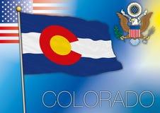 Drapeau du Colorado Illustration Stock