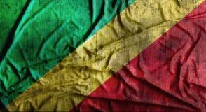 Drapeau du Congo chiffonné par grunge rendu 3d Images libres de droits