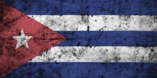 Drapeau du Cuba avec le détail élevé du vieux papier chiffonné sale illustration libre de droits