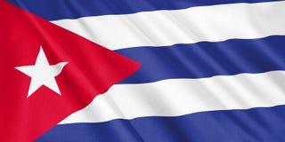 Drapeau du Cuba ondulant avec le vent illustration libre de droits