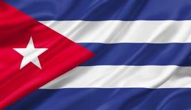 Drapeau du Cuba ondulant avec le vent, illustration 3D illustration libre de droits