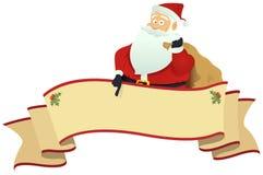 Drapeau du défilement de Santa Photos stock