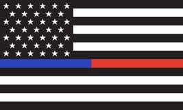 Drapeau du feu de Police& d'Américain de vecteur Images libres de droits