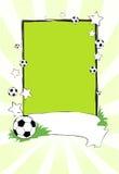 Drapeau du football Photographie stock