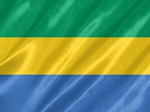 Drapeau du Gabon illustration de vecteur