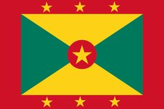 Drapeau du Grenada illustration de vecteur