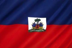 Drapeau du Haïti - les Caraïbe Photo stock