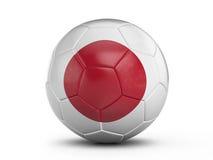 Drapeau du Japon de ballon de football Photo libre de droits