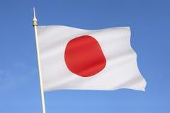 Drapeau du Japon - le Nippon Photo libre de droits