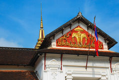 Drapeau du Laos, Laos Images stock
