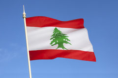 Drapeau du Liban - Moyen-Orient Photos stock