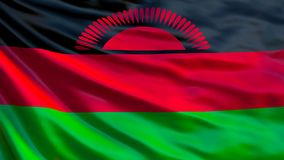 Drapeau du Malawi Drapeau de ondulation d'illustration du Malawi 3d illustration de vecteur