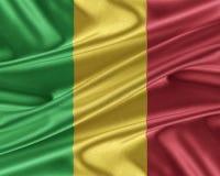 Drapeau du Mali avec une texture en soie brillante Photos libres de droits