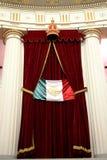 Drapeau du Mexique dans le palais de Nationalal du Mexique Photographie stock