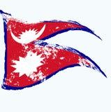 Drapeau du Népal illustration de vecteur