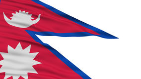 Drapeau du Népal de plan rapproché Images stock