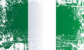 Drapeau du Nigéria, république Fédérale du Nigeria Taches sales froissées illustration libre de droits