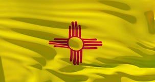 Drapeau du Nouveau Mexique sur la texture en soie, Etats-Unis d'Amérique Illustration 3d détaillée élevée illustration libre de droits