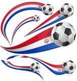 Drapeau du Paraguay avec du ballon de football Photos libres de droits