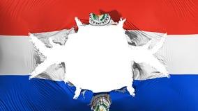 Drapeau du Paraguay avec un grand trou illustration libre de droits
