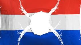 Drapeau du Paraguay avec un trou illustration de vecteur
