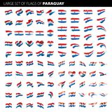 Drapeau du Paraguay, illustration de vecteur Images libres de droits
