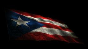 Drapeau du Porto Rico banque de vidéos