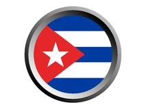 drapeau du rond 3D du Cuba illustration stock