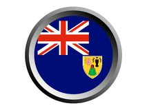 drapeau du rond 3D des Turcs et de la Caïques illustration de vecteur