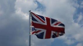 Drapeau du Royaume-Uni banque de vidéos