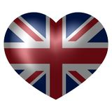 Drapeau du Royaume-Uni dans la forme de coeur illustration stock