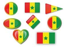 Drapeau du Sénégal Photographie stock libre de droits