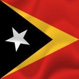 Drapeau du Timor oriental Vecteur Photographie stock