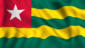 Drapeau du Togo ondulant dans le vent illustration stock