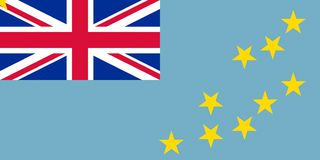 Drapeau du Tuvalu illustration de vecteur