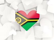 Drapeau du Vanuatu, autocollants en forme de coeur illustration de vecteur