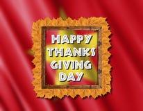 Drapeau du Vietnam et jour heureux de thanksgiving avec les feuilles jaunes Image stock