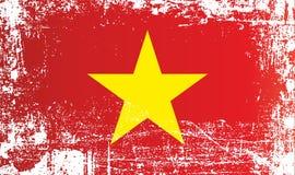 Drapeau du Vietnam, république Socialiste du Vietnam, taches sales froissées illustration de vecteur