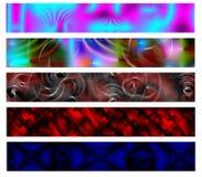 Drapeau du Web cinq réglé # 2 Photos stock