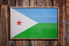 Drapeau en bois de Djibouti Photo libre de droits
