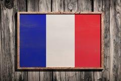 Drapeau en bois de Frances Photo stock