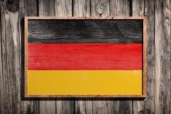 Drapeau en bois de l'Allemagne Image stock