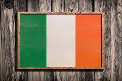 Drapeau en bois de l'Irlande Photos stock
