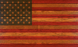 Drapeau en bois des Etats-Unis Photo stock