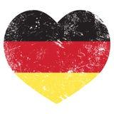 Drapeau en forme de coeur de l'Allemagne rétro Photos stock