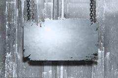 Drapeau en métal Photographie stock libre de droits