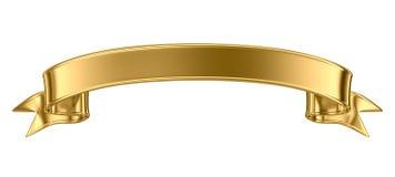 Drapeau en métal d'or Photo libre de droits